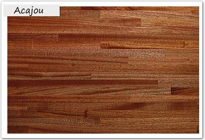 Acajou plans de travail en bois massif plan de travail for Plan de travail cuisine bois brut
