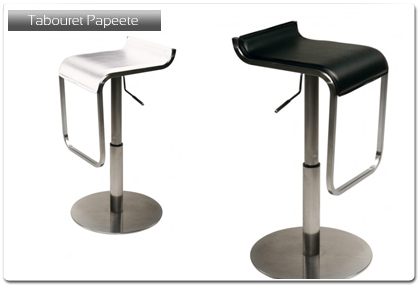 tabouret de bar mod le papeete plan de travail. Black Bedroom Furniture Sets. Home Design Ideas